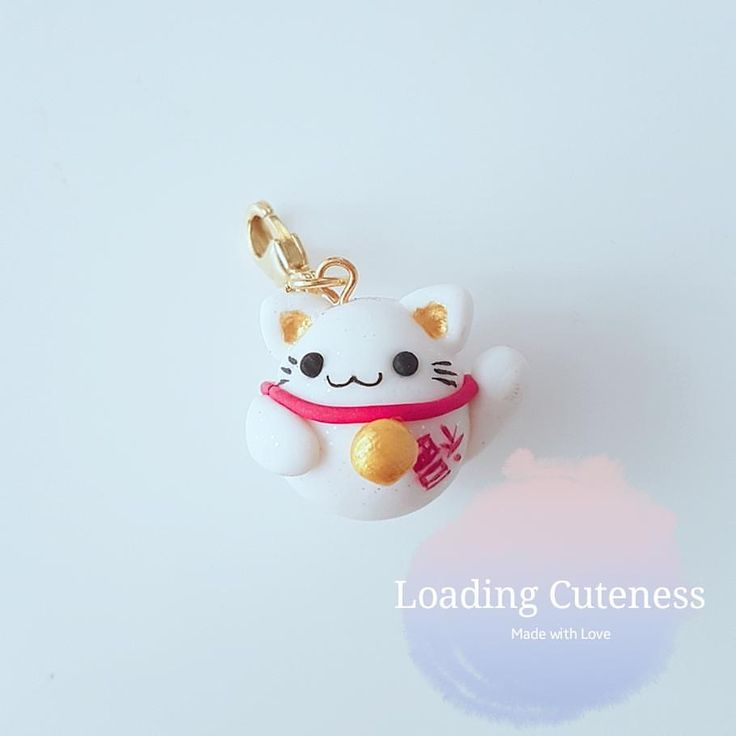 Fortune Kitty Etsy link in bio use 'loadingcute1' for 15% discount #polymerclay #polymer #clay #cute #kawaii #polymerclaycharms #craft #handmade #charm #china #chinese #lucky #fortune #japanese #cats #fantasy #smile #happy #diy #fimo #premo #jewelry #sale #food #girly #sweet #kawaiifood #jewelry #kitten #kitty #crafting