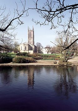 14th century Derby Cathedral, UK -