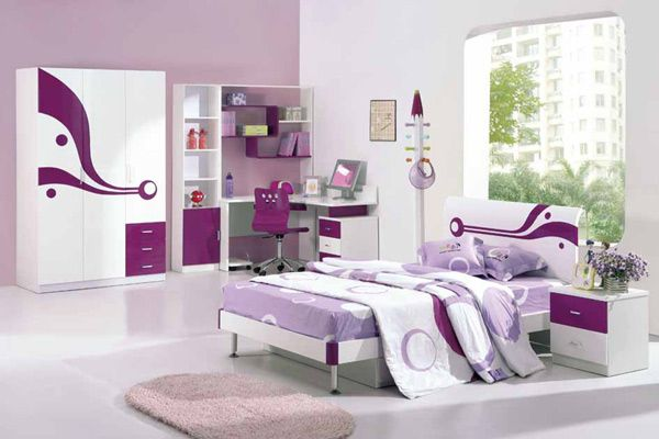 Teen Bedroom-Would need different colors, but like the concept