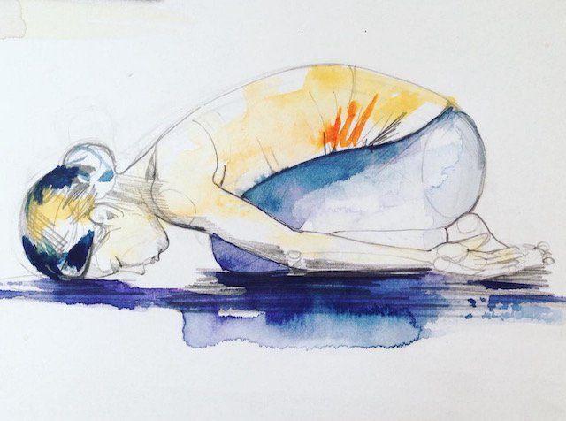 The Myth & Symbolism behind Child's Pose. | Yin yoga poses ...