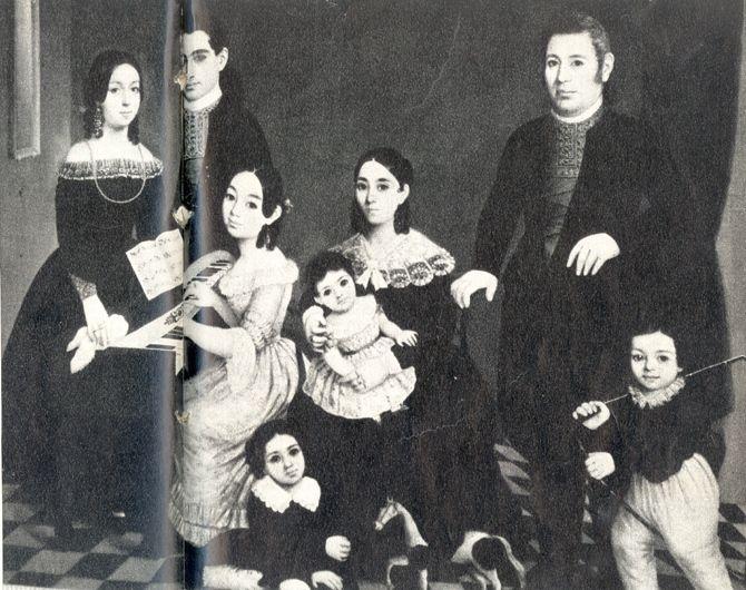 El maragato Cordero con su familia, pintura atribuida a Tejeo