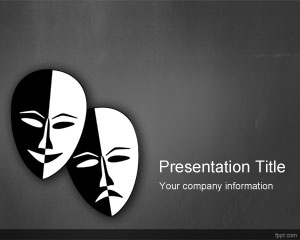 Drama Theater PowerPoint Template is a free gray background template color that you can download for free drama presentations in PowerPoint