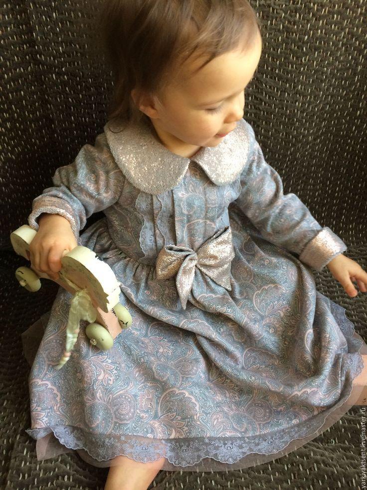 Купить Платье 3002 - кремовый, пейсли, платье, Платье нарядное, платье для девочки, платье на заказ
