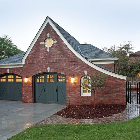 21 best house exterior images on pinterest exterior for Brick garage plans