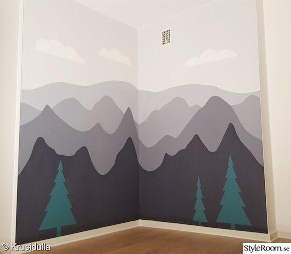 barnrum,berg,fondvägg,mountains