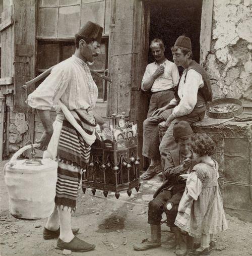 Ice-cream seller, Constantinople, 1898