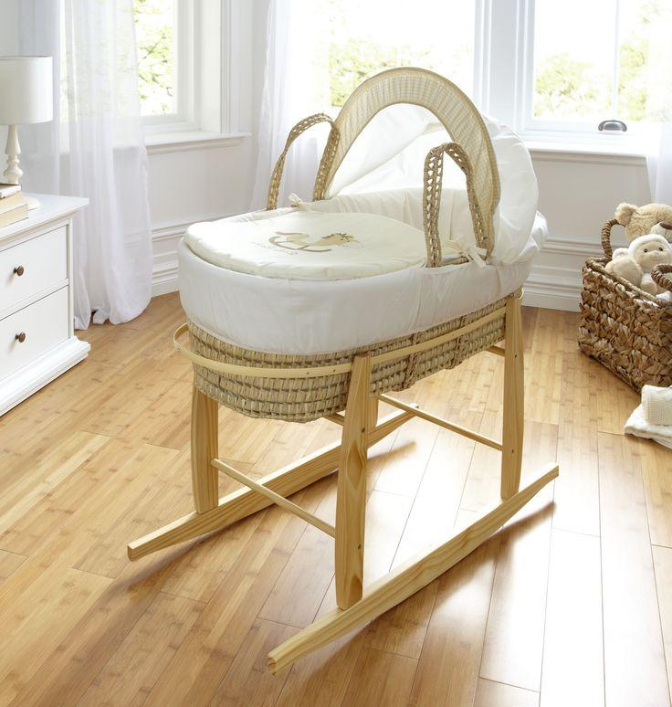 Little Rocker Moses Basket In Cream | Moses Baskets & Stands | ASDA direct
