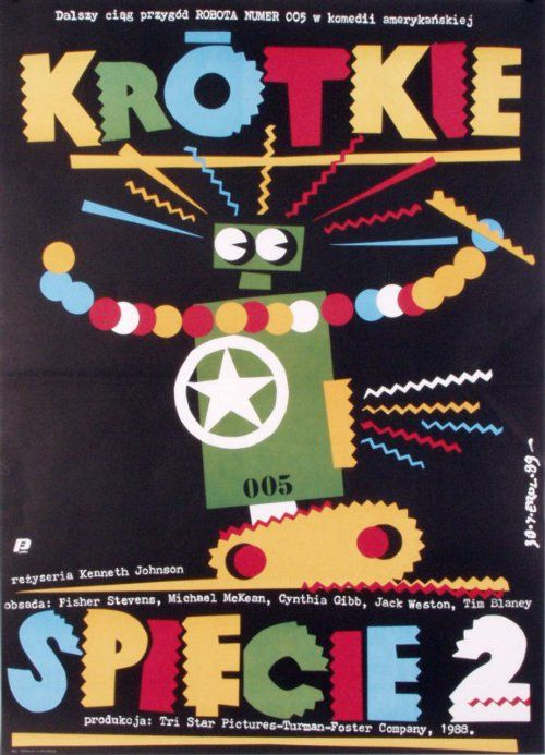 Short Circuit 2, Polish Movie Poster