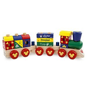 Disney Mickey Mouse Wood Blocks Stacking Train Set | Disney StoreMickey Mouse Wood Blocks Stacking Train Set - Your little one can pull into the station of imagination with this wooden train set by Melissa & Doug. Blocks featuring Mickey and his pals stack on the train cars to help teach early developmental skills.