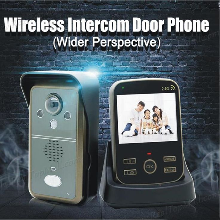 147.00$  Buy here - http://alihxt.worldwells.pw/go.php?t=32520144762 - Wireless Intercom Door Phone Video Wireless Peephole Video DoorPhone Smart Home Video Intercom Doorbell System 147.00$