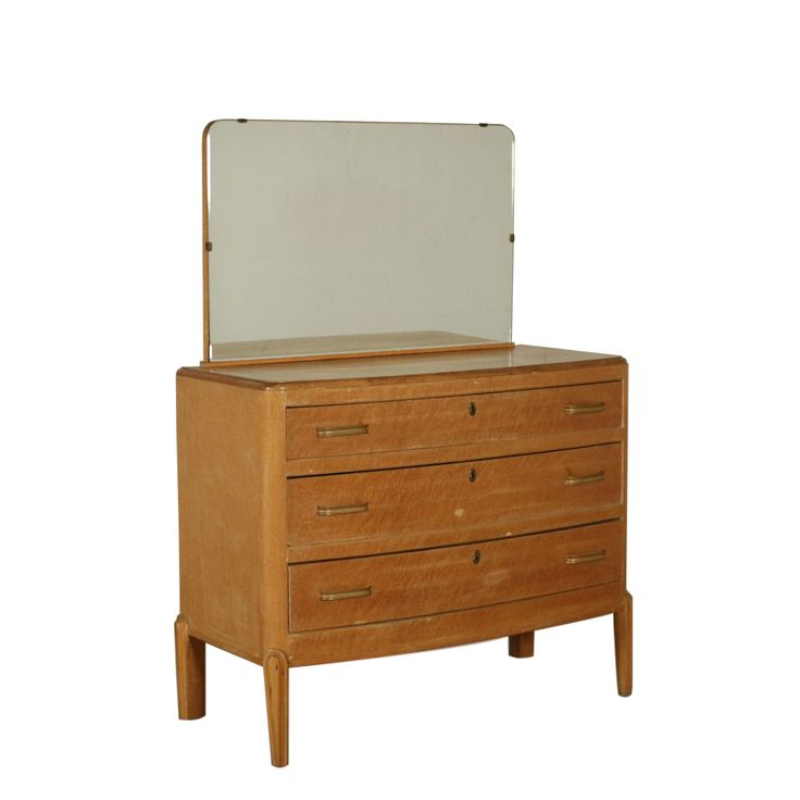 Chest of Drawers with Mirror Vintage Italy 1930s