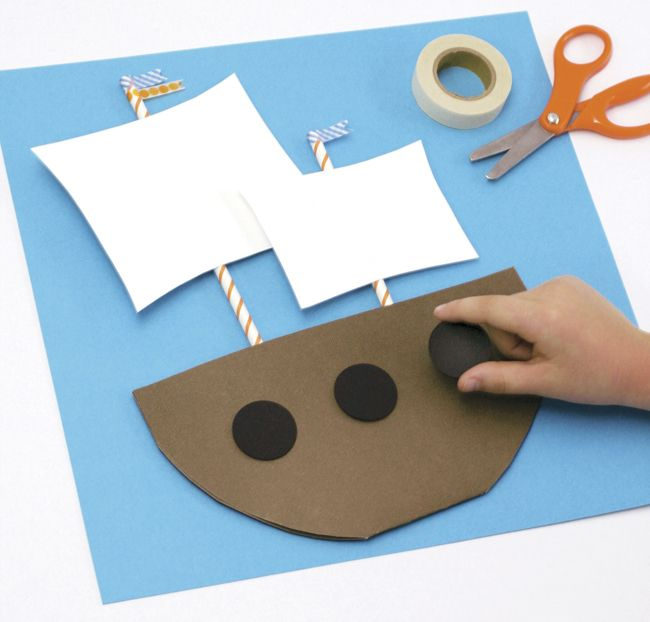 Mayflower craft by Paging Super Mom (or pirate ship!)