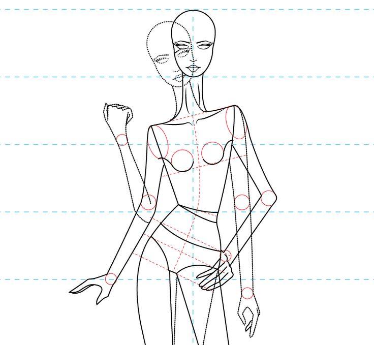 Descarga gratis: plantilla de figurin femenino estilizado en vector para que…