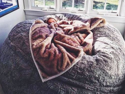 This Lovesac ~pillow chair~ is as big as a bed and you'll wait one immediately
