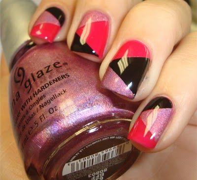 """geometric """"patchwork"""" mani: Nails Art, Nails Design, Awesome Nails, China Glaze, Nails Ideas, Nails Polish, Art Nails, Diy Nails, Nails Tutorials"""