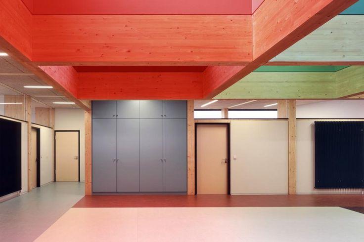 Pictures - Kindergarten Dandelion Clock - Architizer: Colour Interiors, Ecker Architekten, Interiors Architecture, Architecture Art, Clocks Design, Dandelions Clocks, Interiors Pin, Architecture Inspiration, Architecture Design
