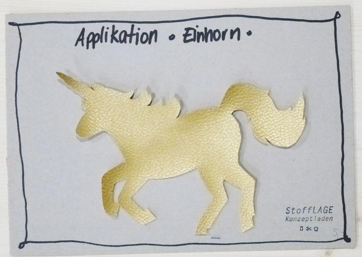 Wir haben schöne Applikationen aus Kunstleder ausgeschnitten. Kitschig in Gold oder cool in schwarz. Einfach aufnähen oder mit Textilkleber kleben. Wie schön!