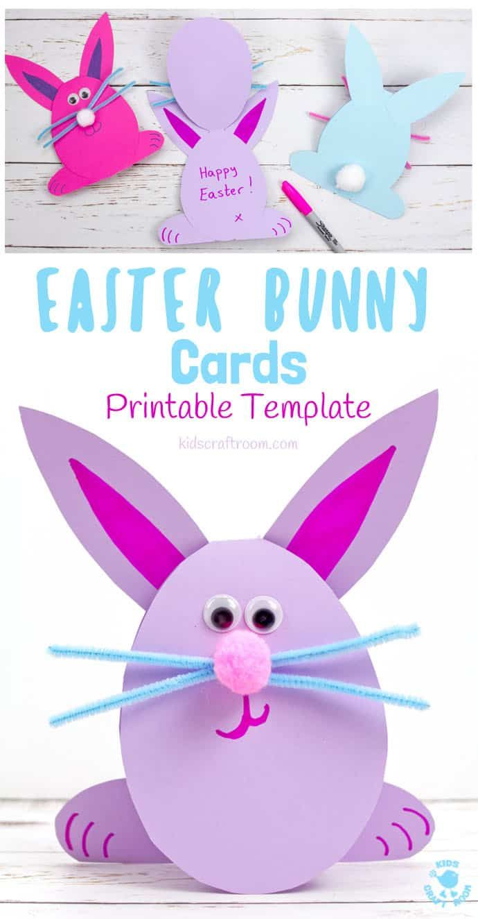 Easy Peasy Bunny Cards Easter Bunny Cards Easter Kids Easter Bunny Crafts