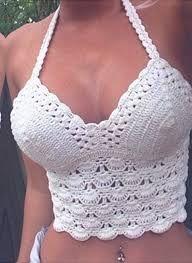Resultado de imagem para tops de crochê com graficos