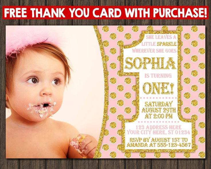 131 best Pink and Gold Birthday Party images – Costco Birthday Invitations