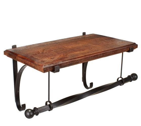 Pottery Barn New York Shelf & Clothes Rack 2' in Rustic Iron $139 - $199