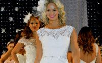 Bridal gowns on the runway at the Total Wedding Show in Toronto.