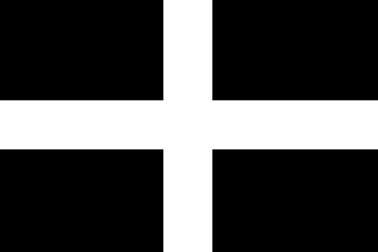 Saint Piran's Flag, the Flag of Cornwall