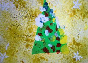 Vánoční přání-stromeček