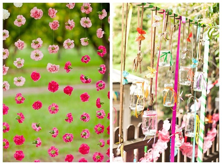 Beautiful flower jar photo background idea.  Outdoor Wedding Altar Decorations Amazing Wedding Decorations Wedding Altar Ideas Wedding Aisles Wedding Inspiration Before The Big