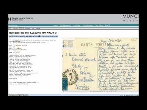 emunch.no | Distribuert korrektulesing og digitalisering av Munchs brev.