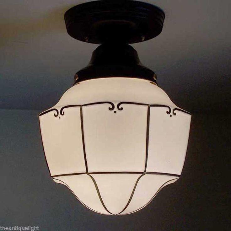 (( Unique ) Ceiling Lamp Light Glass Shade Fixture Kitchen