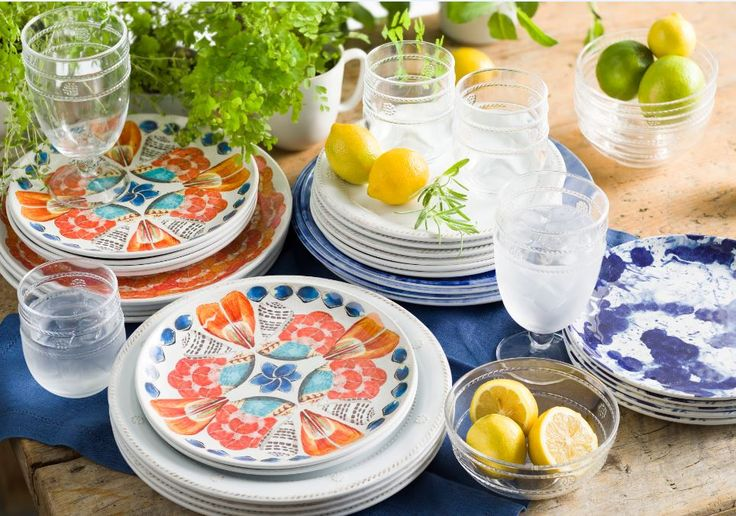 Squeeze out every last drop of sweet summertime before it's gone!  Our melamine & acrylic Al Fresco collection delivers the iconic look of our ceramic and glass collections with shatterproof style.