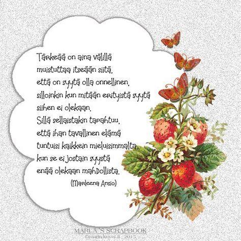 Syntymäpäivä Runoja
