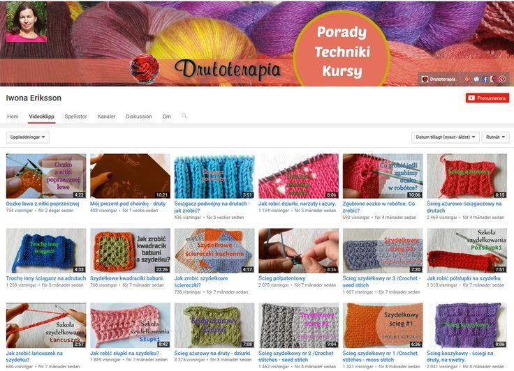 Na YouTube jest dostępnych wiele filmów, które mogą pomóc w nauce na drutach.