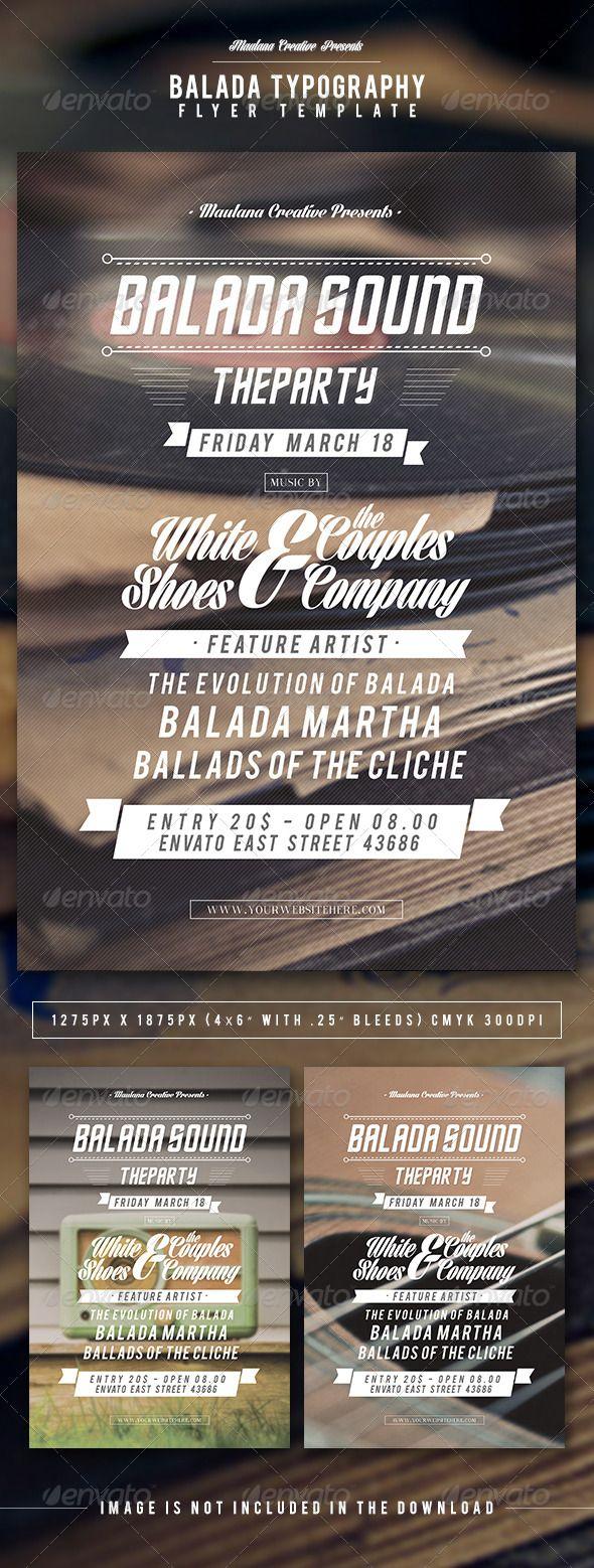 Balada Typography Flyer Template