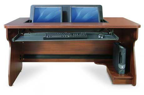 flipit duo dual monitor computer desk upstairs pinterest desks classroom desk and computers. Black Bedroom Furniture Sets. Home Design Ideas