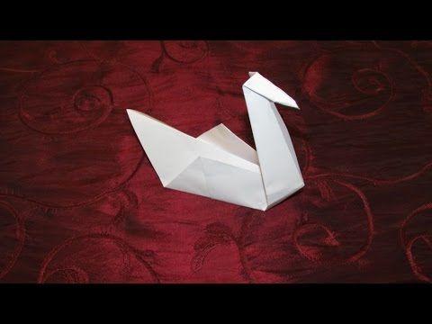 Ce cygne en origami est très-très facile à réaliser. On peut le faire avec les débutants ou avec les plus petits. L'origami est un des meilleurs exercices po...