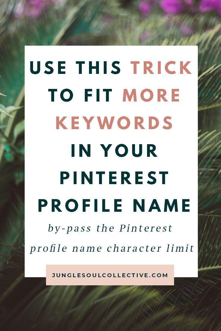 So erhalten Sie mehr als 30 Zeichen in Ihrem Pinterest-Profilnamen – #als #erhal …