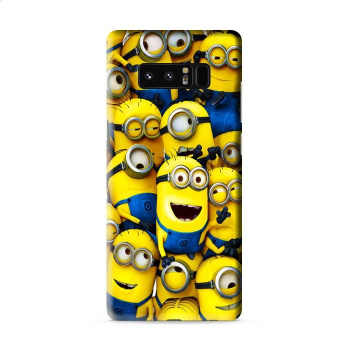 Minions Characters Collage Samsung Galaxy Note 8 3D Case Caseperson