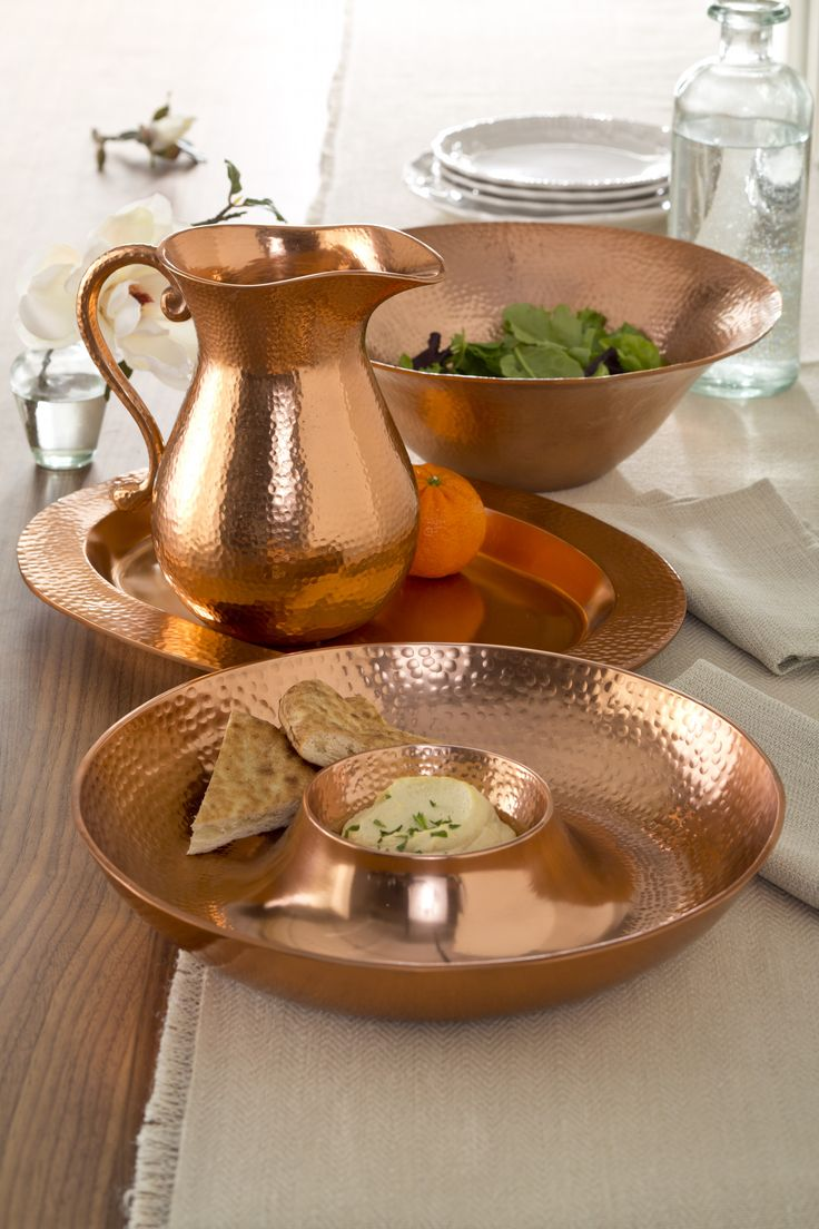 Update your home with classic pieces that feel timeless. Vintage appeal meets modern styling with copper-finish serving pieces for the kitchen.
