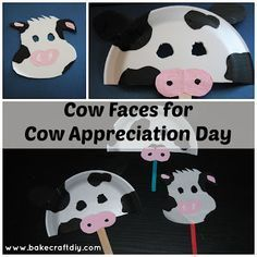 Cow Masks great for Chick-Fil-A's Cow Appreciation Day