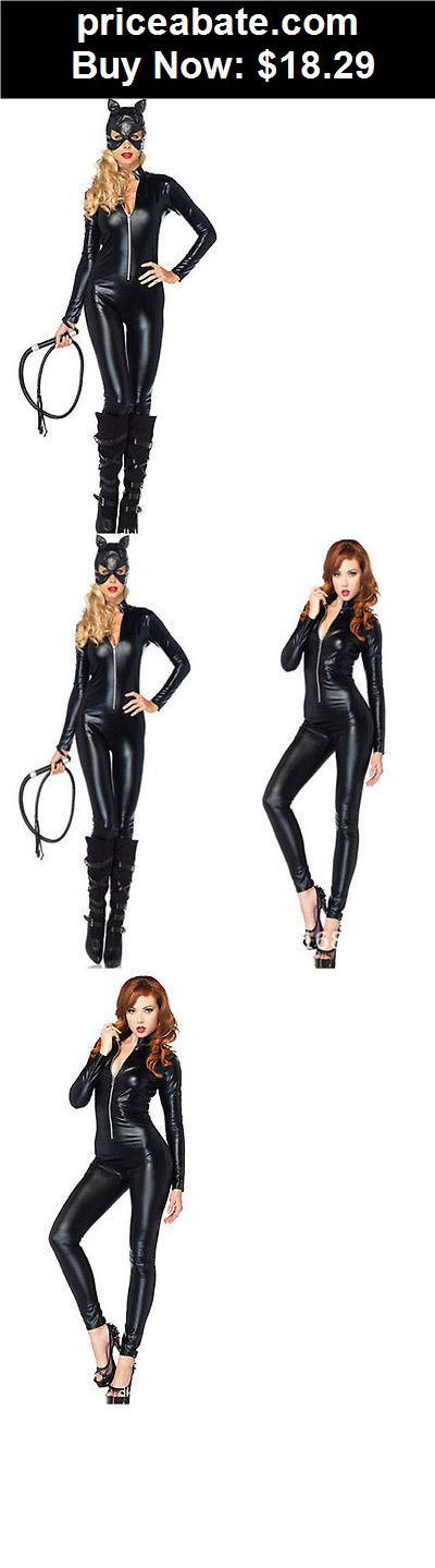Women-Costumes: Women Halloween Fancy Dress Anime Catwoman Costume Adult Sexy Cat Gothic Cosplay - BUY IT NOW ONLY $18.29