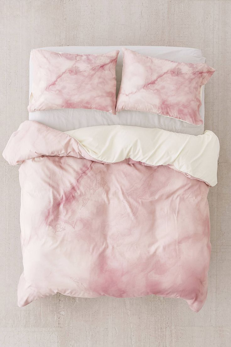 Slide View: 2: Chelsea Victoria For DENY Rose Gold Marble Duvet Cover