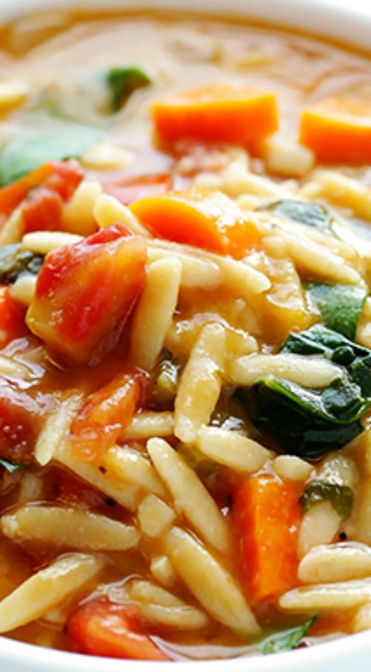 Italian Orzo Spinach Soup ~ Simple to make, full of classic Italian flavors, and oh-so-comforting.
