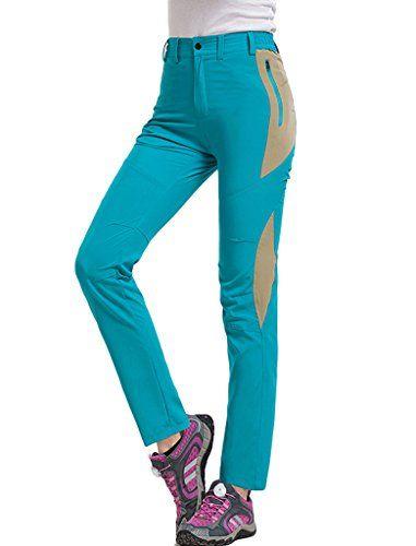 Lakaka Womens Walking Trousers Lightweight Summer Quick Dry Hiking Mountain Pants Waterproof Outdoor Sportswear