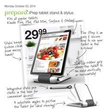 iPrep tablet stand & stylus from Home Outfitters $29.99