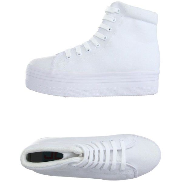 Converse High-tops & Trainers ($140) ❤ liked on Polyvore featuring shoes, sneakers, white, converse sneakers, wedge sneakers, white wedge shoes, white wedge sneakers and white high top sneakers
