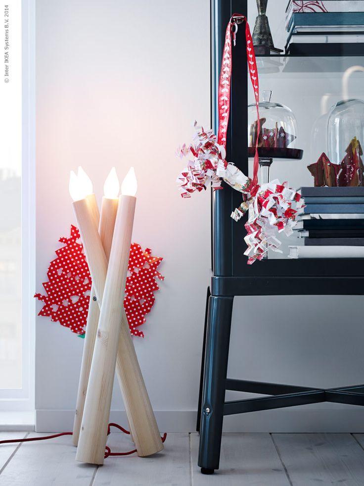 i rets julsortiment p ikea hittar vi bland annat juleljus i ny tappning mysbelysning och. Black Bedroom Furniture Sets. Home Design Ideas