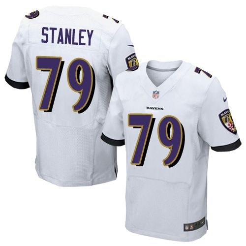 c2962c233 ... Mens Nike Baltimore Ravens 79 Ronnie Stanley Elite White NFL Jersey  Baltimore Ravens 52 Ray Lewis ...