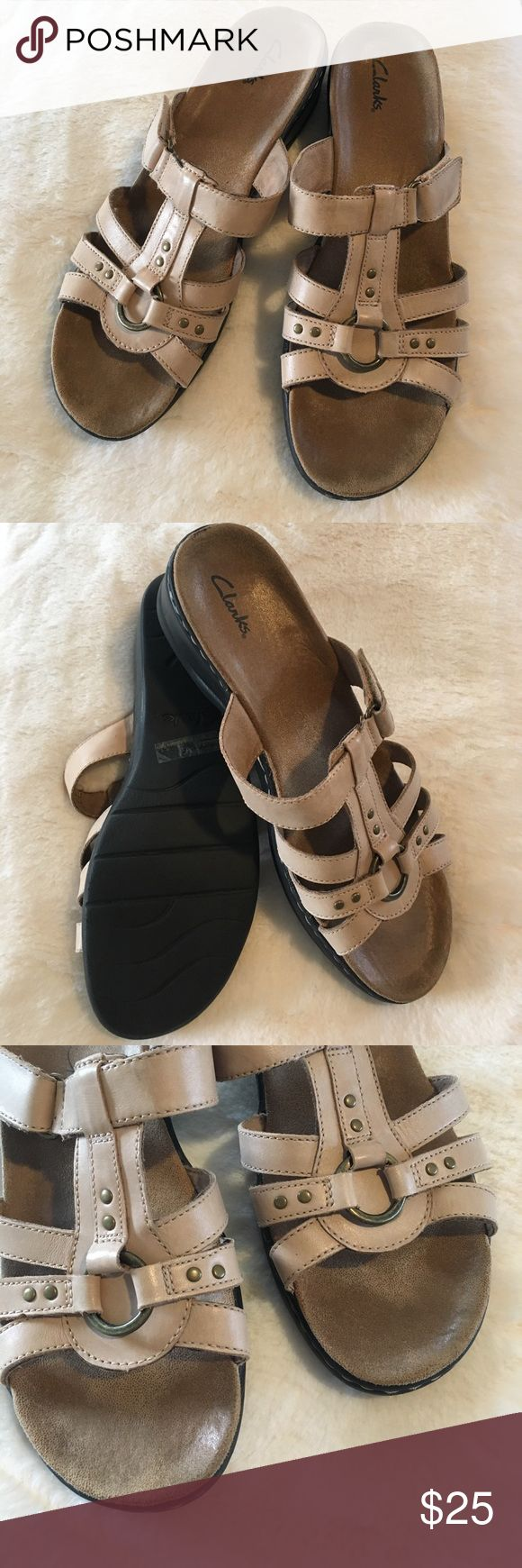 Clarks sandals beige size 11 Size 11 Clarks sandals in excellent condition. Worn once and doesn't fit my foot properly. My loss is your gain! Clarks Shoes Sandals